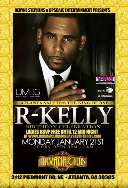 R Kelly Birthday Bash in Atlanta! Are You Ready?