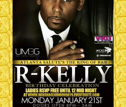 R Kelly Birthday Bash in Atlanta! Are You Ready?