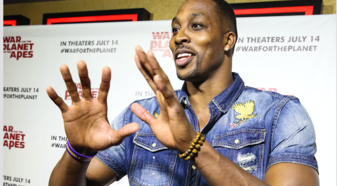 Dwight Howard attends 'War for the Planet of the Apes' in Atlanta