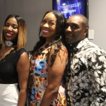 Julian Lark & Kontrol Mag business partner pose with Nyssa Green