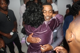 Sandra Norwood, RonReaco Lee (like they haven't seen each other since Moesha?)