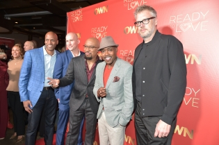 """ATLANTA, GA - OCTOBER 23: (L-R) Guest,Alix Baudin,ÊThomas """"Nephew Tommy"""" Miles, Will Packer and Jonathan Sinclair attend Ready to Love Premiere Watch Party at Suite Lounge on October 23, 2018 in Atlanta, Georgia. (Photo by Moses Robinson/Getty Images) *** Local Caption *** Guest; Thomas """"Nephew Tommy"""" Miles; Jonathan Sinclair; Will Packer"""