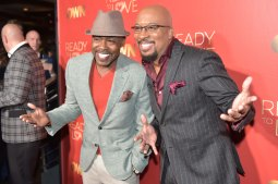 """ATLANTA, GA - OCTOBER 23: (L-R) Film Producer Will Packer and Thomas """"Nephew Tommy"""" Miles attends Ready to Love Premiere Watch Party at Suite Lounge on October 23, 2018 in Atlanta, Georgia. (Photo by Moses Robinson/Getty Images)"""