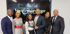 Martell & Melody Holt, LaTisha & Marsau Scott, Kimberly Grant & fiancé Maurice Scott (left to right) - Photo Credit Jonell Whitt