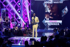 ATLANTA, GA - MARCH 03: Kendal Kyndall speaks onstage during the 2019 BET Social Awards at Tyler Perry Studio on March 3, 2019 in Atlanta, Georgia. (Photo by Bennett Raglin/Getty Images for BET)