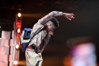 ATLANTA, GA - MARCH 03: Blueface performs onstage during the 2019 BET Social Awards at Tyler Perry Studio on March 3, 2019 in Atlanta, Georgia. (Photo by Marcus Ingram/Getty Images for BET)