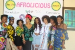 Local Designer( middle) and her runway models
