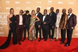 BEVERLY HILLS, CA - FEBRUARY 23: The cast of The Wire attends ABFF Honors Dinner. Arrivals at the Beverly Hilton on Sunday February 23, 2020 in Beverly Hills, CA, USA. (Photo by Aaron J. Thornton / ABFF)